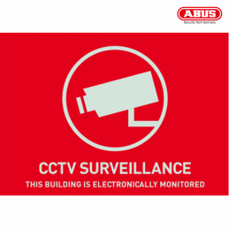 AU1312 Warning Sticker CCTV...